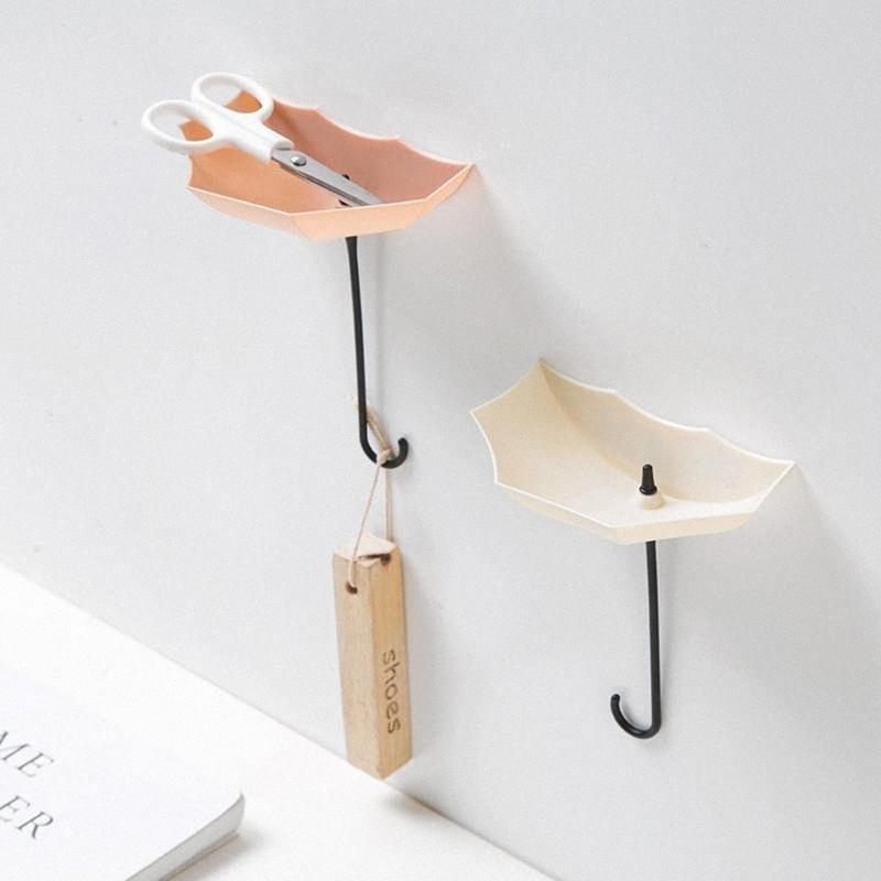 NUOVE piccole cose organizzatore 3pcs / set Carino supporto dell'ombrello montaggio a parete chiave Mensola Hook Hanger Organizzatore durevole # 20 # fTVo