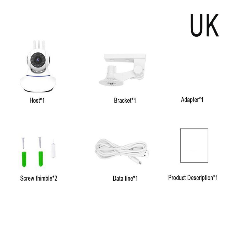 360 gradi di rotazione senza fili Wifi Fotocamera 720p / 1080p Monitor del telefono cellulare a distanza monitoraggio intelligente della rete HD