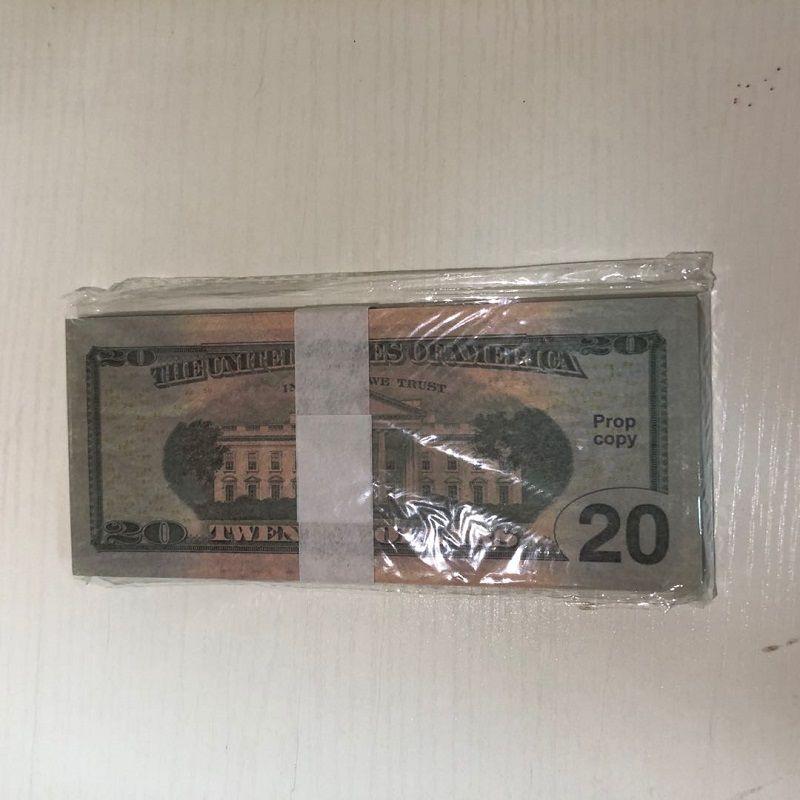 Качество Отгрузка Американский Бумажный Доллар 20-3 Оптовая Валюта партии 100 бар Части / Пакет Атмосфера Осреждения Snxlb Высокая реквизит Factory WJMUC