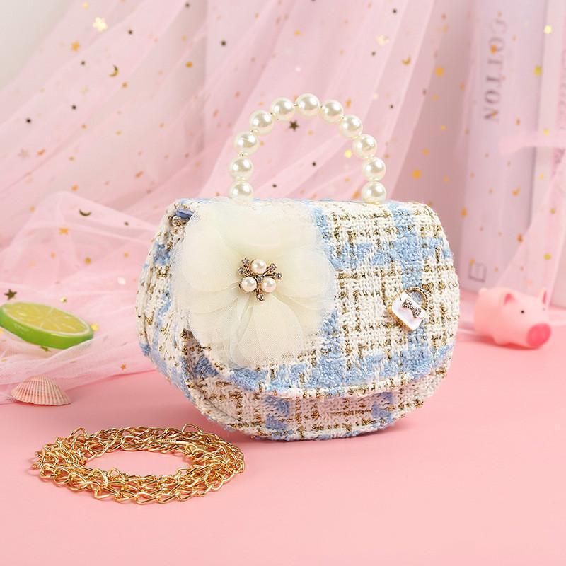 Bolsos de diseño, bolsos para niños y Mini Crossbody 2020 Moneda niñas linda del partido de la niña de la bolsa del bolso del mensajero de perlas monedero de mano bolsas de regalo