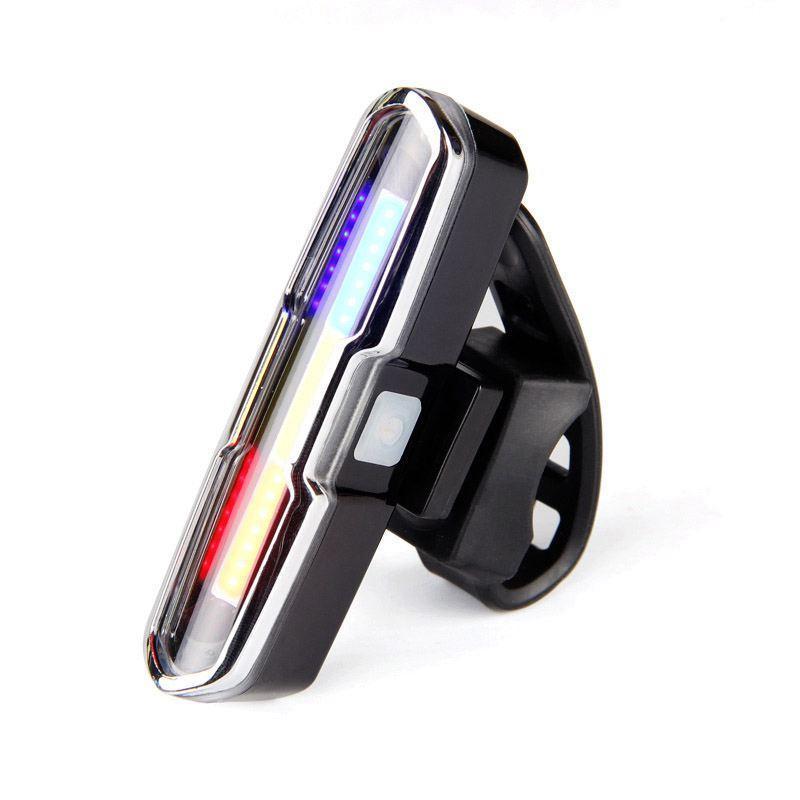 USB Şarj edilebilir Ön Arka Bisiklet Işık Lityum Pil LED Bisiklet Taillight Bisiklet Kaskı Işık Lambası Dağı Bisiklet Aksesuarları