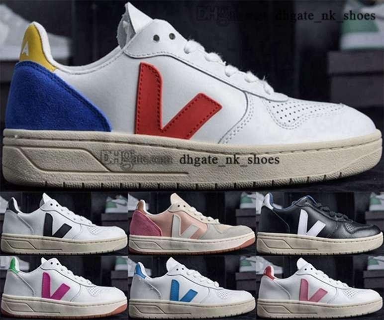 12 Casual Juventude Homens Big Kid Meninos Vulcanizados Homens Tênis Designer Sneakers Luxo 46 Tamanho US 35 Sapatos Mulheres Treinadores 5 EUR VEJA V10 Sneaker
