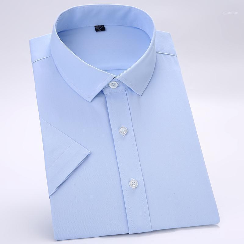 Мужские платья рубашки (без грудной клетки) Летняя с коротким рукавом Сплошная простая простая уход Тонкий подходящий формальный бизнес мужские рубрики1