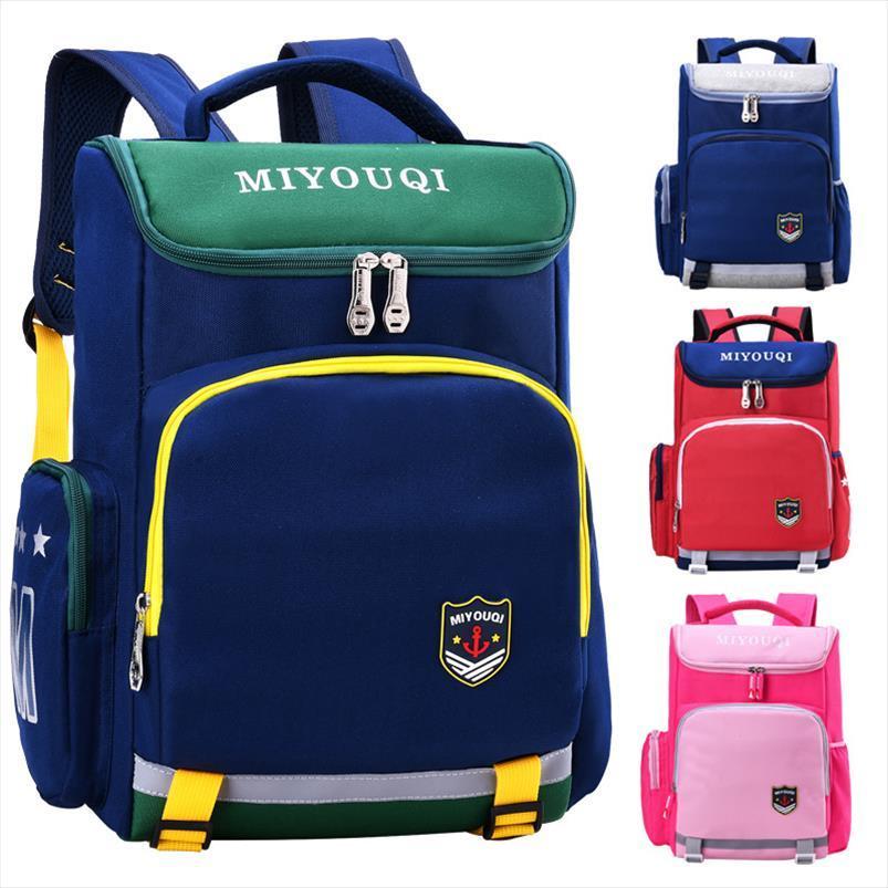 Crianças em idade escolar Bolsas meninos meninas miúdos ortopédico Mochilas escolares crianças mochilas mochilas impermeáveis escola primária Back Pack
