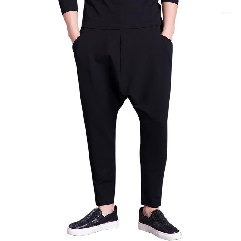 27-44 2018 Новая мужская одежда для волос волос GD мода хип-хоп Свободные гарем брюки промежности мешковатые брюки плюс размер костюмов1