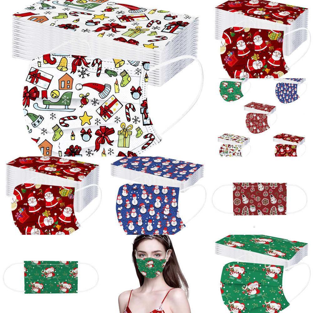 FactoryLuuImask Dust Anti Designer Gedruckt 3-Lagen Weihnachten Einweg Trübung Schutz Gesichtsmasken Für Männer Frauen von DHL