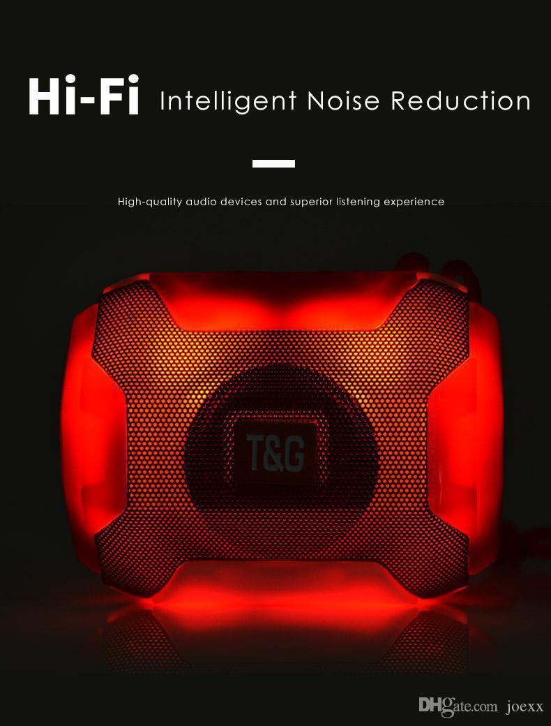 Портативная акустическая система беспроводной Bluetooth сабвуфер HD LED Фонарь стерео Открытый Музыка Радио Сабвуфер Поддержка TF FM
