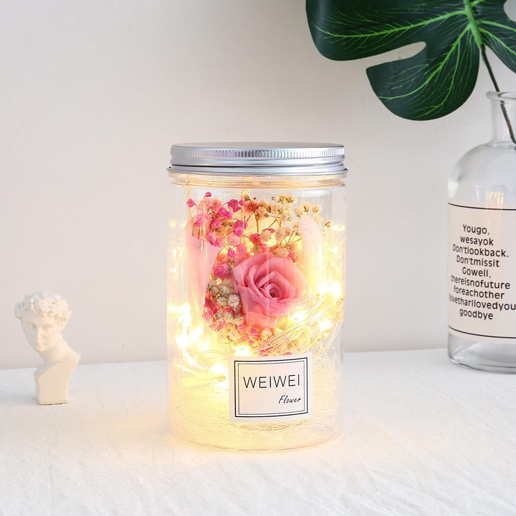 Vita Eterna Fiore Piccolo Night-light laurea Bouquet Merce di mobili per visualizzazione anziché al suo impiego amante Sezione The Seventh 79HN