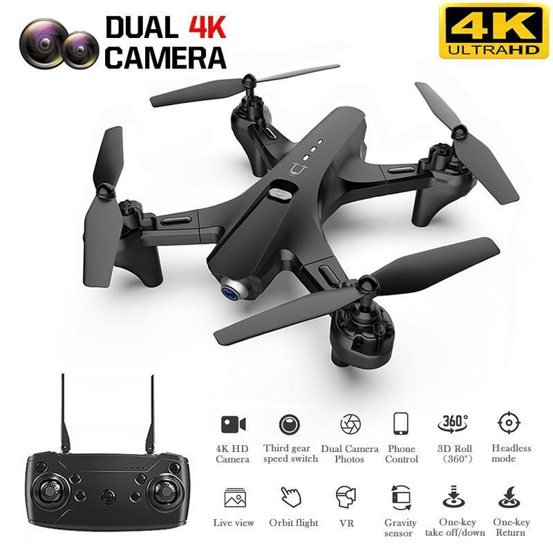 새로운 RC 드론으로 4K HD 듀얼 카메라 전문 항공 사진 자동으로 팔로우 한 열쇠로 돌아 FPV 쿼드 콥터의 UAV