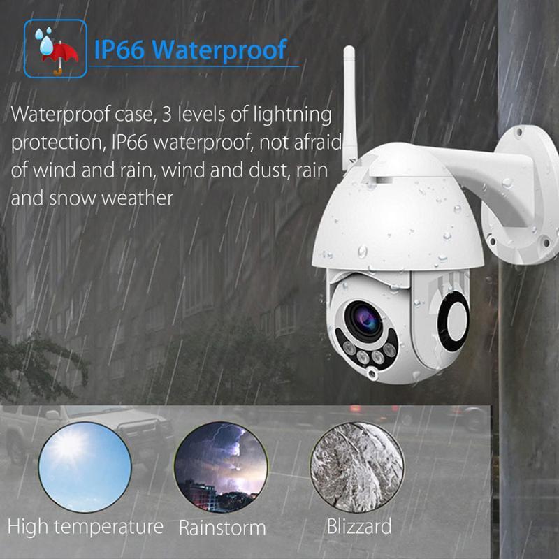 1080P cámara IP PTZ Wifi 5X de zoom de enfoque automático 2.7-13.5mm de vigilancia de seguridad inalámbrica al aire libre IR Cámara CCTV iCsee APP