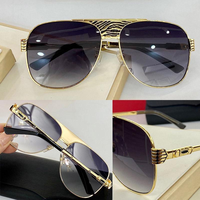 0314S Gafas de sol de moda con protección UV para hombres y mujeres Marco de metal óvalo vintage Vintage Popular calidad superior vienen con casos Classic Sunglasses