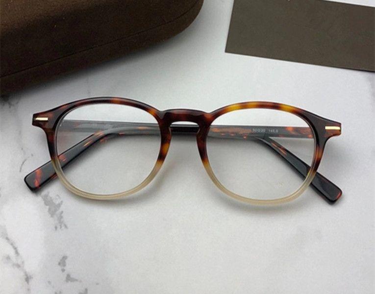 Newarrival الجودة للجنسين بلانك fullrim إطار نظارات عادي 50-20-145 للصفة المستوردة خلات جولة حافة حافة fullet حالة 5583