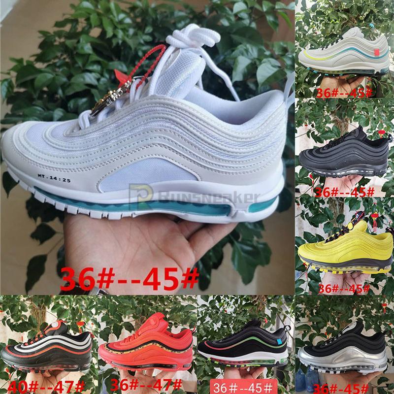2021 EUR 47 кроссовки плюс размер 36-47 97 кроссовки для мужчин женские светоотражающие взрослые коренастые дюнка тройные черные тренеры WOTESPOON
