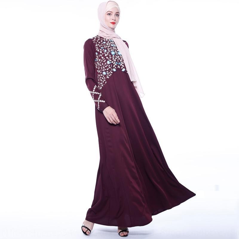 Осень в Нью-Дубай Женская одежда Абая цена осень Новый вышитые платья вышиты Dubai Женская одежда Абая цена платья Q1GvG