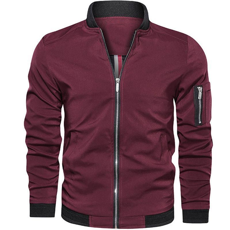 남성 재킷 및 코트 2020 패션 슬림 남성 자켓 남성 오토바이 스트리트 남성의 폭격기 재킷 간단한 영국 스타일 남자 코트