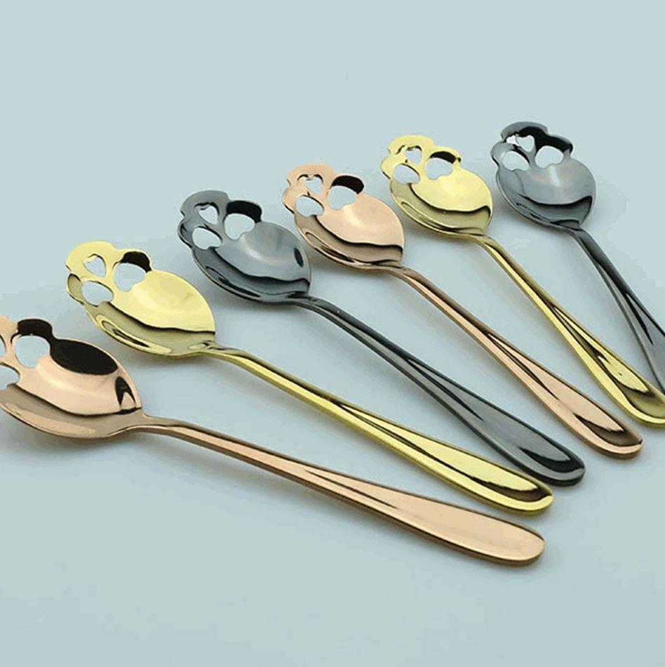 Cuillères en acier inoxydable Cuillère Spoon Sucre Sucre KKA8123 pour couleurs Thé de thé Tea Cutlery Thé Skull 3 Thx Spoon NHXNH