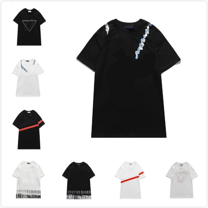 Mens Novo Camisetas Mens 2021 Impressão Moda Manga Curta Mulheres Tee Casual Moda Streetwear Trendy T-Shirts Top Quality Shorts
