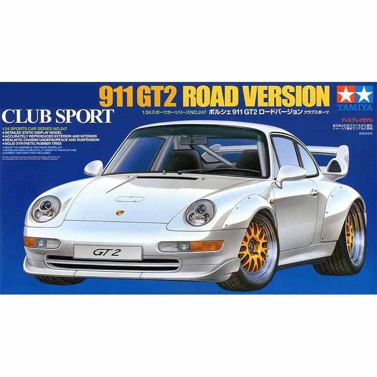 24247 1:24 Ölçekli Porsche 911 GT2 Spor Tamiya Araba Ekran Koleksiyon Oyuncak Plastik Montaj Yapı Modeli Kiti