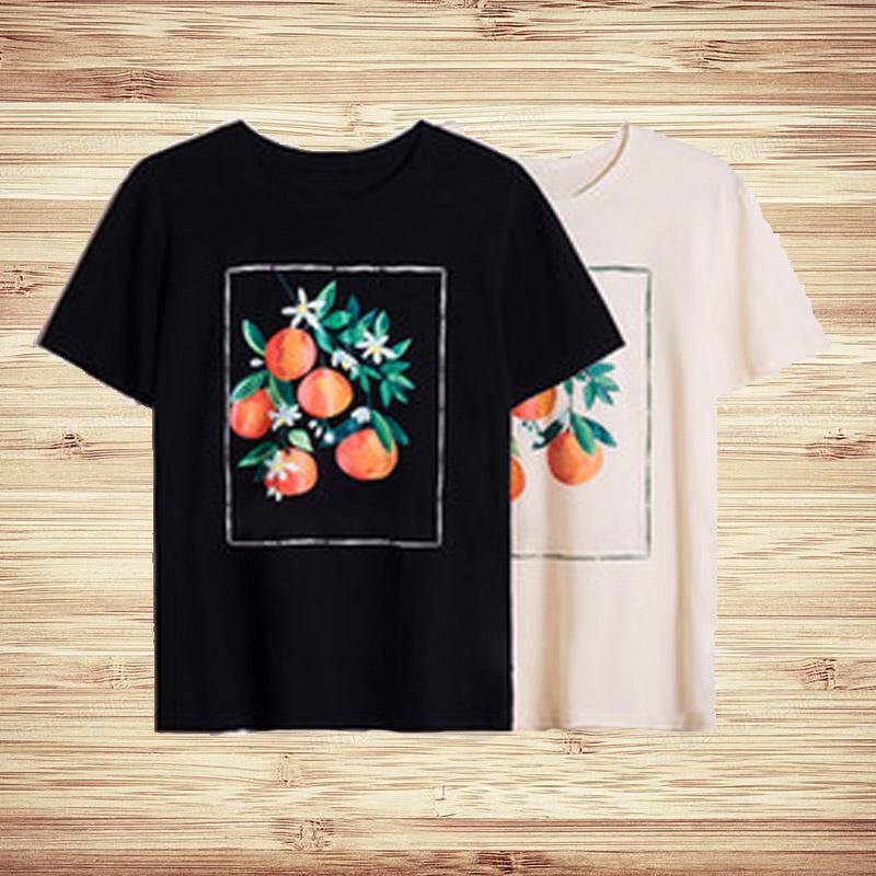 Uomini Casual Fashion T Shirt Donne Summer Fruit Stampa a maniche corte da uomo di alta qualità Uomo Hip Hop T Shirt T-shirt S-XXL