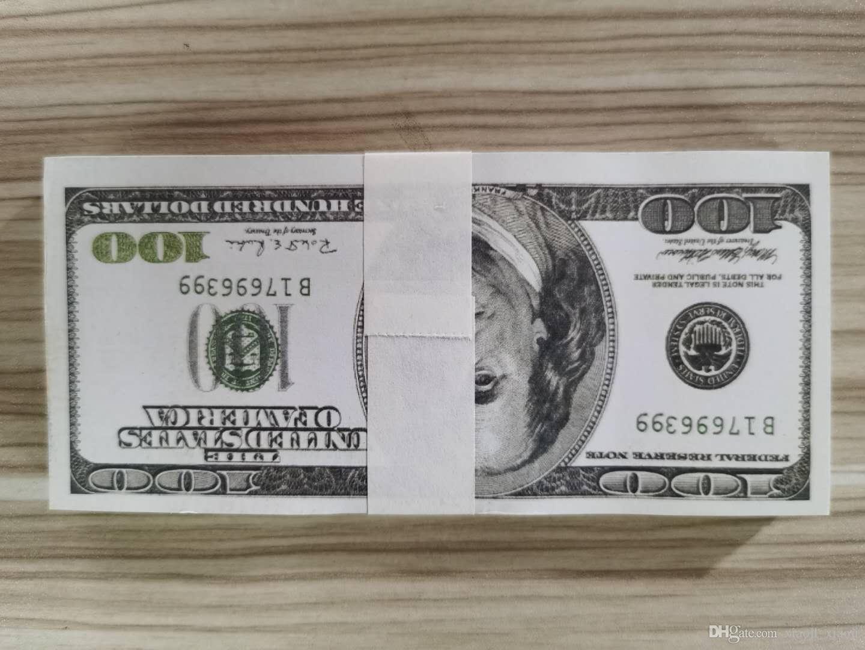 PROP DOLLAR Wholesale 07 Faire semblant de l'argent papier Money 20 / 100pcs / Dollar Copy Banknote réaliste US 100 Pack 50 / DMGKA