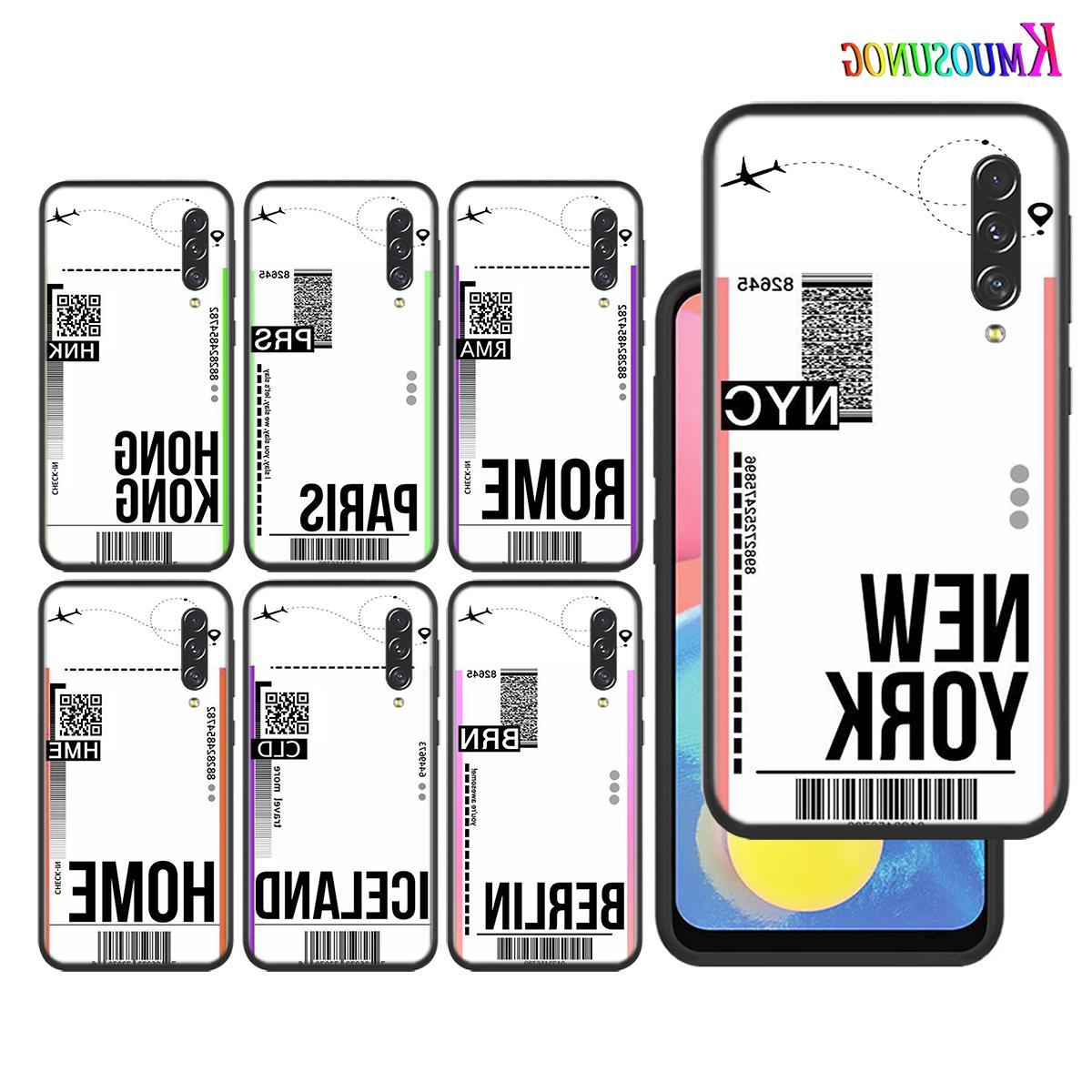 Silikonhülle First Class Flugticket für Samsung Galaxy A90 A80 A70 A60 A50 A40 A10 A20E A2Core M20 Schwarz-Telefon-Kasten