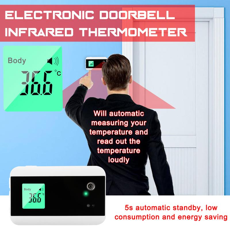 Household Electronic Doorbell Infrared Thermometer Outdoor Door Bell with Temperature Measuring and Broadcasting Function