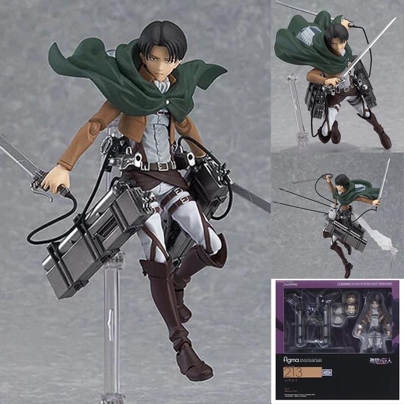 Attacco anime su Titan 213 Levi Action Figure Mikasa Ackerman 203 Eren Yeager 207 Mobile Assemblea figurina modello giocattolo regalo fai da te 201202