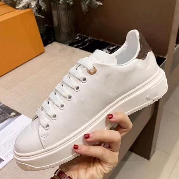 Top Quality Uomo Scarpe Casual Scarpe Designer Scarpe Fashion Brand Women Sneakers Goffratura Scarpe da bovina da bodie da bovina Dimensioni 34-45 con scatola