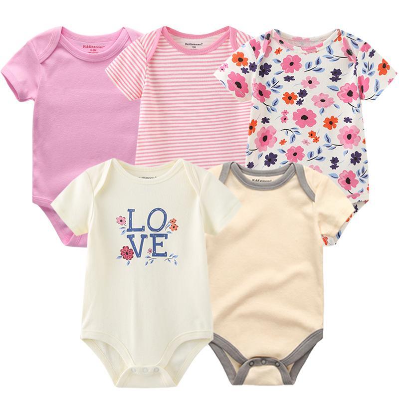 Pagliaccetto del bambino 100% vestiti fiore di cotone infantili Newbornbaby abbigliamento bambino tuta