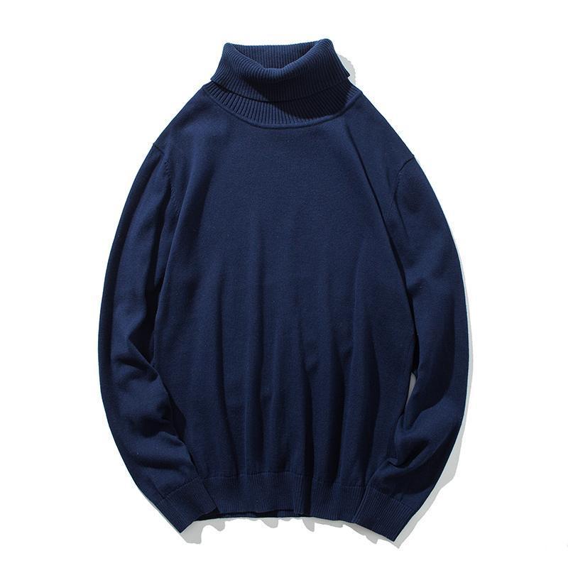 Suéteres para hombre Kksky Invierno Jersey Suéter Hombre Cotton Turtleneck Mens Tops Tops Ropa Negro Punto de punto Jerseys para hombres de gran tamaño