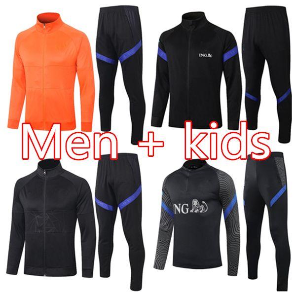 2020 21 Homens Crianças de Jong Memphis de Ligt Adulto Futebol Treinamento Terno 2020 2021 Virgil Promes Futebol Tracksuit