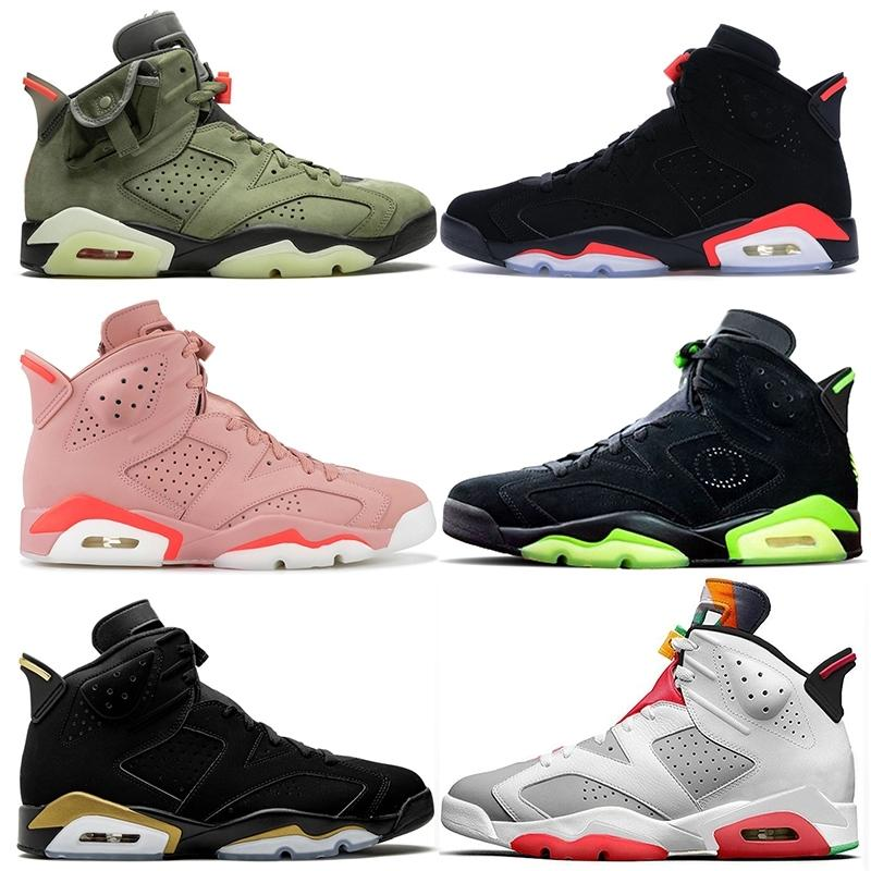 2020 Jumpman Hare 6 6 S Erkek Bayan Basketbol Ayakkabıları Retro Camo Travis Scotts 6 Millennial Pembe Siyah Kızılötesi Eğitmenler Sneakers Boyutu 13