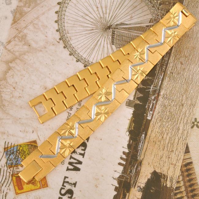 MXGXFAM 24 K Goldene Uhr Kette Armbänder für MAN 20 cm Länge 12mm Breite