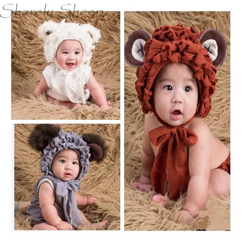 Erkek Bebek Kız Ayı Hat + tulum Fotoğraf Vur Kıyafetler Bebek Fotoğrafçılık Dikmeler 1028 Aksesuarlar Bebek vur Karikatür Kostüm Fotoshooting