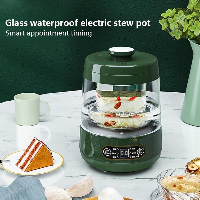 Electric Stupating Cup Mini 600ml Porridge Health Sew Sweat Pot Pot Zuppe Bilight Cups 220V Ufficio Ufficio Domestico Bird's Nest Dessert Maker