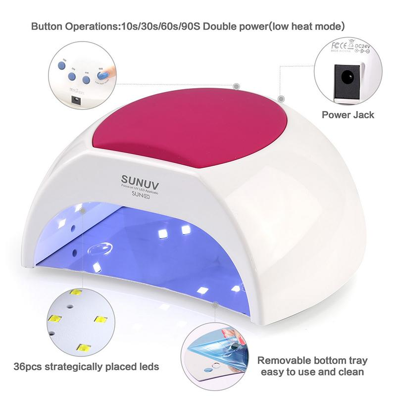 Manikür 48W Tırnak Kurutucu Makinası UV Lambası İçin Kür UV Jel Oje ile Motion algılama LCD Ekran 201.026 için SUN2C LED Tırnak Lambası