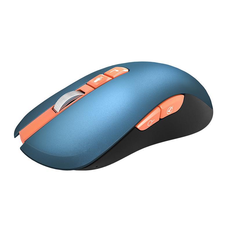 Ratos Recarregável Bluetooth Voz Smart Voz Sem Fio Mouse V8 Azul