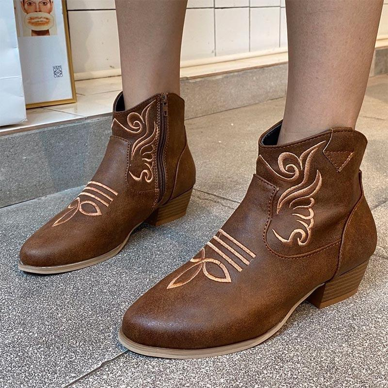 Mulheres tornozelo botas sapatos senhoras pu couro couro medido 2020 feminino outono moda plus tamanho botas nova