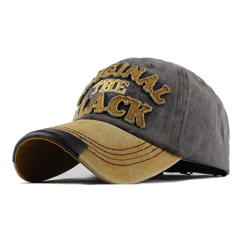 Lettre Lavé de baseball en coton Casquette Snapback Hat Hommes Retro Hip Hop Aménagée Casquettes Femmes Casual hombre os Gorra Casquette