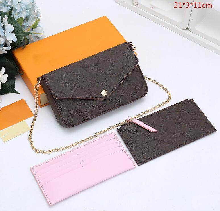 Neue abnehmbare Tasche einzelne dreiteilige, mobile Messenger Bag Drei-in-One-Telefon-Schulterketten-Geldbörse CCTRT