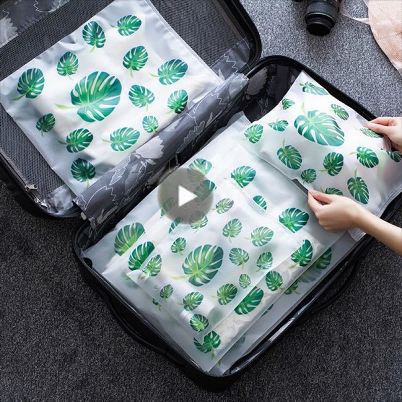 Moda Hacer bolso Organizador de maquillaje Casmetic Casmetic Plant Zipper Bolsa Transparente Bolsa Mujeres Bolsa de almacenamiento Bolsa Viaje Lavado NHVDM