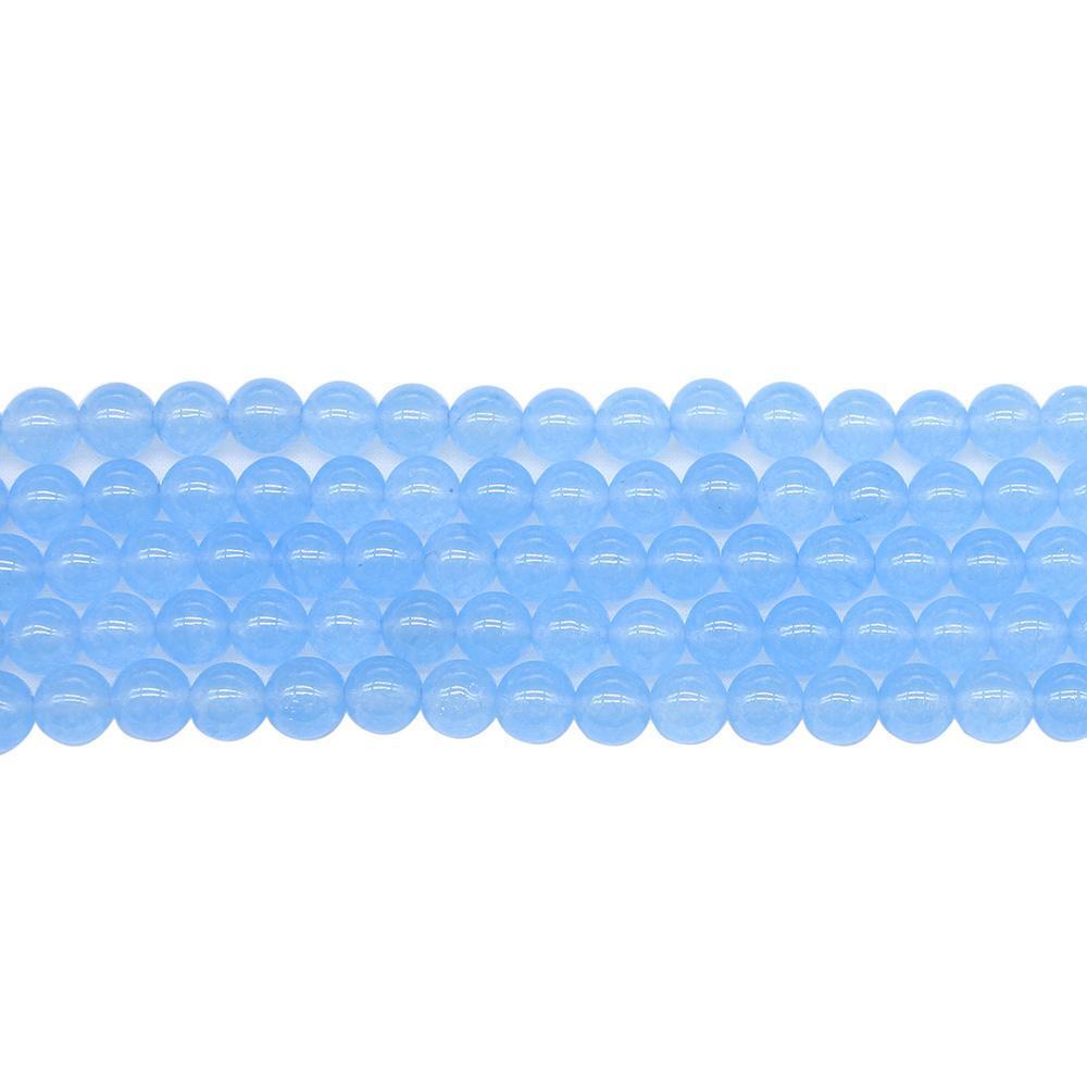 1strand الكثير الأزرق الكوارتز كريستال ستون جولة الخرز 4681012 ملليمتر فضفاض فاصل سحر الخرزة للمجوهرات جعل diy قلادة سوار h jlldny