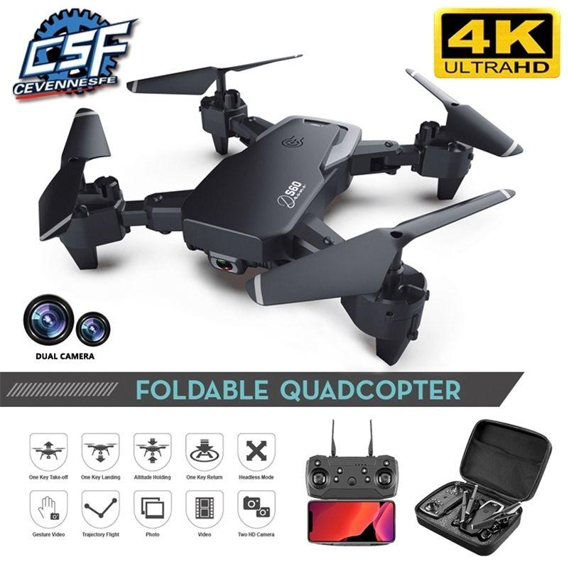 Новый беспилотник 4K HD широкоугольная камера 1080P WiFi FPV беспилотница двойной камеры Quadcopter высота Двойная камера Дрон камеры Дрон вертолет игрушка 201208