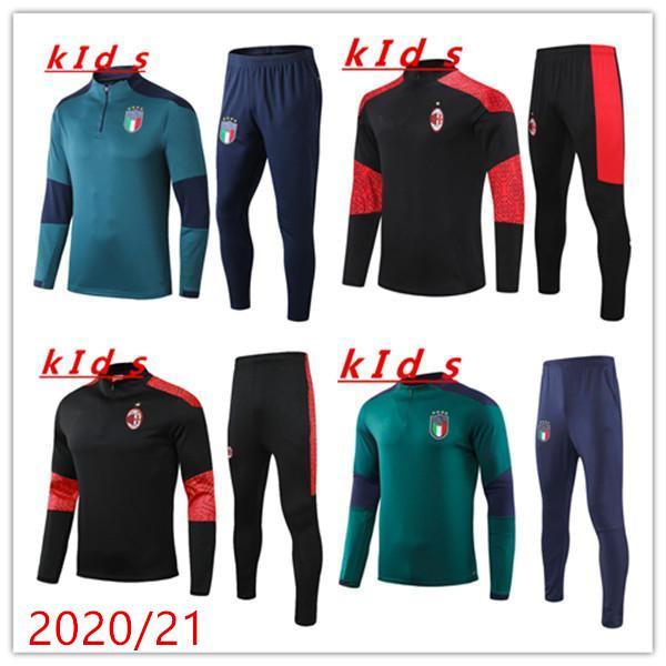 Çocuklar Eğitim Suit 20 21 Ulusal Takım Çocuklar 2020 2021 Italia Eşofman Chandal Futbol Uzun Kollu Futbol Erkek Kazak Eşofman