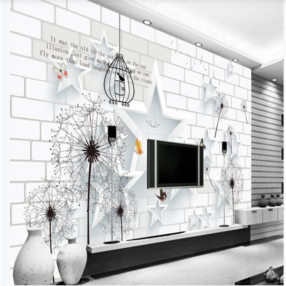 لبنة جديدة 3D خلفيات جدار الخماسية نجمة تلفزيون الحد الأدنى جدار خلفية اللوحة جدار اللوحة خلفية الحديث عن غرفة المعيشة