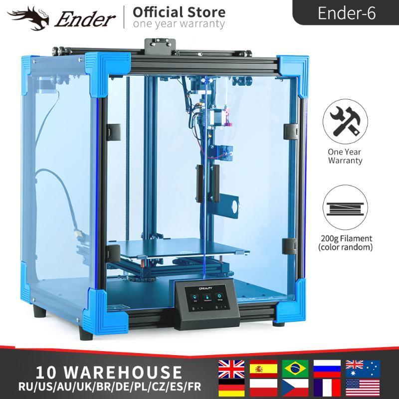 Ender printer Ender-6 3d Printer Kit High Precision Large Print Size,Silence Mainboard TMC2208 Creality 3D