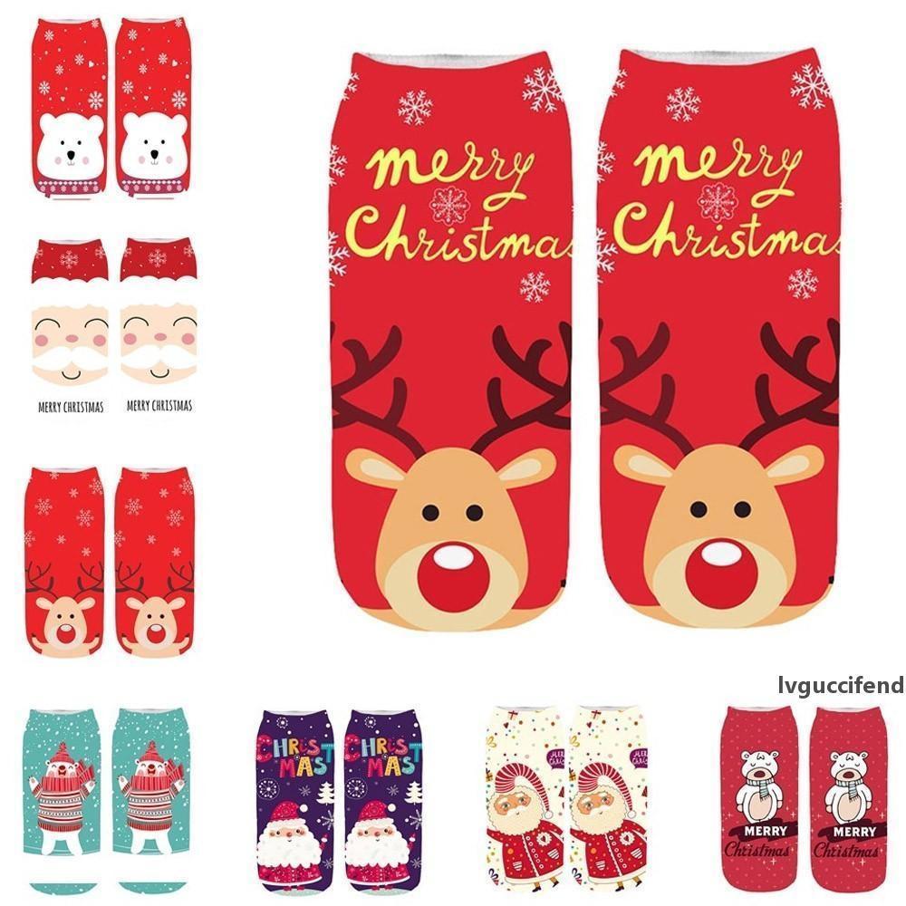 Новые 2020 Женщины Носок зимы теплые рождественские подарки Стерео носки мягкий хлопок Симпатичные Санта-Клаус Олень носки Рождество Рождественские носки Cute 9