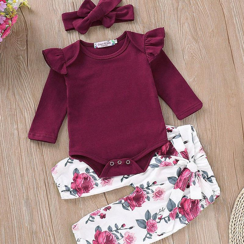 0-18M Kids Set Baby Girl Clothes Newborn Romper T-shirt Top+Pants Girl Leggings Outfits Set kskE#