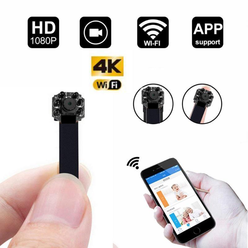 4KNight view HD Portable WiFi IP Mini Camera P2P Wireless Micro Camcorder Video Recorder Support Remote View TF card