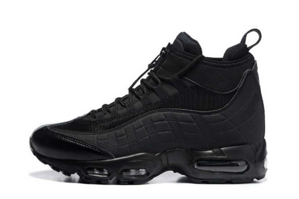 Il nuovo modo Cuscino Stivali Uomo Nero, Marrone, Verde 95 Stivaletti Hight Top 95s impermeabile lavoro stivali da uomo scarpe di alta qualità